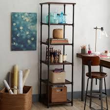 pipe bookcase narrow west elm regarding narrow wood bookcase