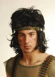 rambo headband style wig