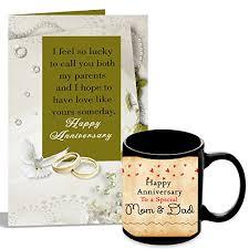 227 Happy Wedding Anniversary To Happy Anniversary To My Wonderful Husband Mug With Card Hamper At