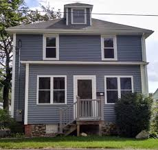 dighton ma ranch gets harbor grey vinyl siding contractor cape