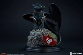 train dragon toothless statue sideshow collec