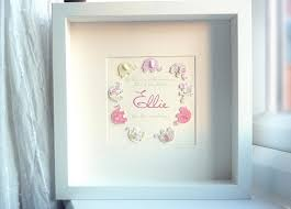 new personalized gift time gift 3d paper elephant personalized baby girl gift keepsake box