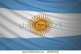 argentina flag floating fabric flag argentina stock illustration
