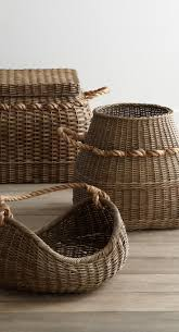 Rattan Baskets by 346 Best Baskets Natural Fibers And Fabrics Images On Pinterest