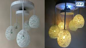 make a home made wrapped balloon lamp easy home made lamp by