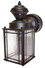 bronze heath zenith motion sensing decorative security light