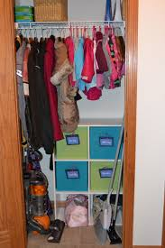small coat closet organization for 2 children adults youtube
