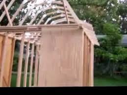 how to build the trusses for a gambrel roof como construir un