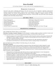 Business Consultant Resume Consultant Resume Example For A Senior Manager Marketing Sample