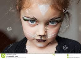 child with kitty cat make up stock photo image 24770180