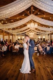 Draping Pictures String Lights And Drapes Make This Wedding Reception Venue And