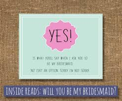 asking bridesmaids ideas bridesmaid bridal card of honor how to ask bridesmaid