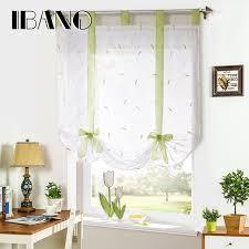 Tie Up Window Curtains Roman Shade European Embroidery Style Tie Up Window Curtain
