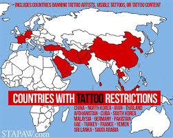 shocking tattoo laws in countries that limit or ban tattoos