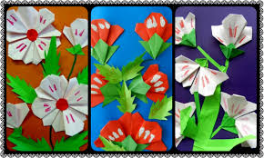 make origami wildflower for kids crazzy craft