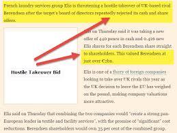takeover bid hostile takeover meaning exles defense strategies types