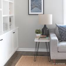 how to build a marble side table with hairpin legs