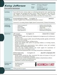 Executive Administrative Assistant Resume Sample by Executive Assistant Resume Samples 2017 Executive Resume Examples