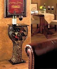 8 bottle wine rack storage display table cork holder contemporary