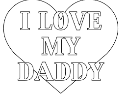 Coloring Pages I Love Daddy