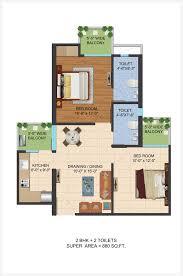 ajnara le garden floor plan 880 sq ft