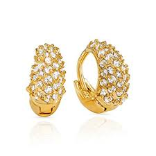 hoops earrings india buy mahi cz collection gold plated cz stones hoop earrings for