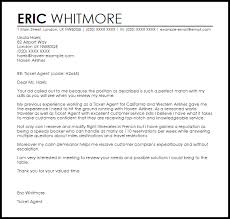 ticket agent cover letter sample livecareer