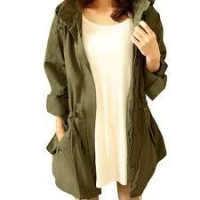 cekaso women s anorak jacket lightweight drawstring hooded