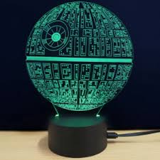 Pottery Barn Death Star 3d Led Star Wars The Death Star Table Lamp Just 5 29 Shipped