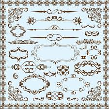 simple frame with borders and ornaments vector design 08 vector