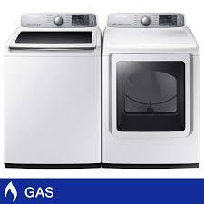 samsung 5 0cuft top load washer 7 4cuft gas dryer with multi steam