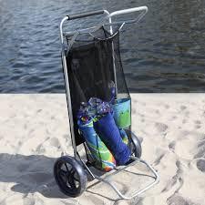 rio folding beach table folding beach carry cart with sturdy wheels built in table