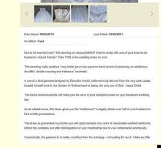 sell wedding dress aussie dude selling ex s wedding dress for fishing gear