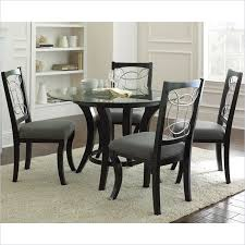 bold round dining table set 5 piece in black bargainmaxx com