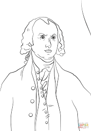 president james madison coloring page free printable coloring pages