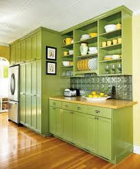 home decorating ideas thearmchairs beautiful green kitchen cabinets pictures