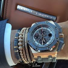 luxury bracelet watches images Grey rose gold audemars with anil arjandas jewels bracelets jpg