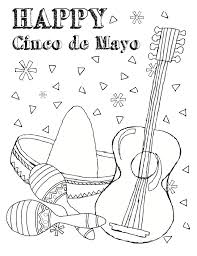 cinco de mayo coloring pages sugar skull coloring page free
