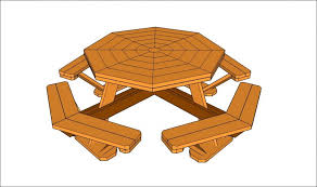 Red Cedar Octagon Walk In Picnic Table by Exteriors Wonderful Folding Picnic Table Bench Plans Octagon