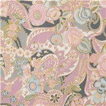 lilac henry fabric flower gold metallic clara floral