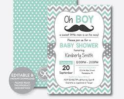 mustache baby shower invitations mustache baby shower etsy