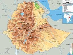 Africa Map Physical by Physical Map Of Ethiopia Ezilon Maps