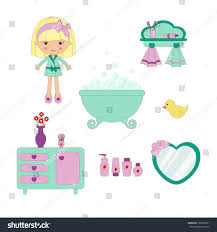 Cute Bathroom Sets by Cute Bathroom Set Stock Vector 101990371 Shutterstock