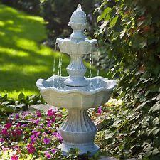 Water Fountain For Backyard - lighthouse water fountain 2 tier outdoor patio decor backyard