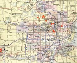 Detroit Zip Codes Map by Recent Work January 2008