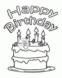 card for 4th birthday coloring page for kids holiday coloring
