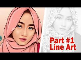 vector skin tone tutorial vector vexel portrait tutorial part 1 line art youtube