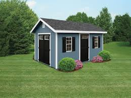 Craftsman Vertical Storage Shed Magnificent Blue Wood Storage Shed 2 Windows With Z Shutters