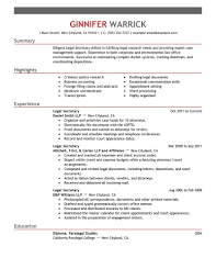 Sample Resume Job Descriptions by Inspiring Secretary Resume Examples