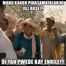 Mang Kanor Meme - mang kanor pinasamatalan ni jill rose di yan pwede kay enrile